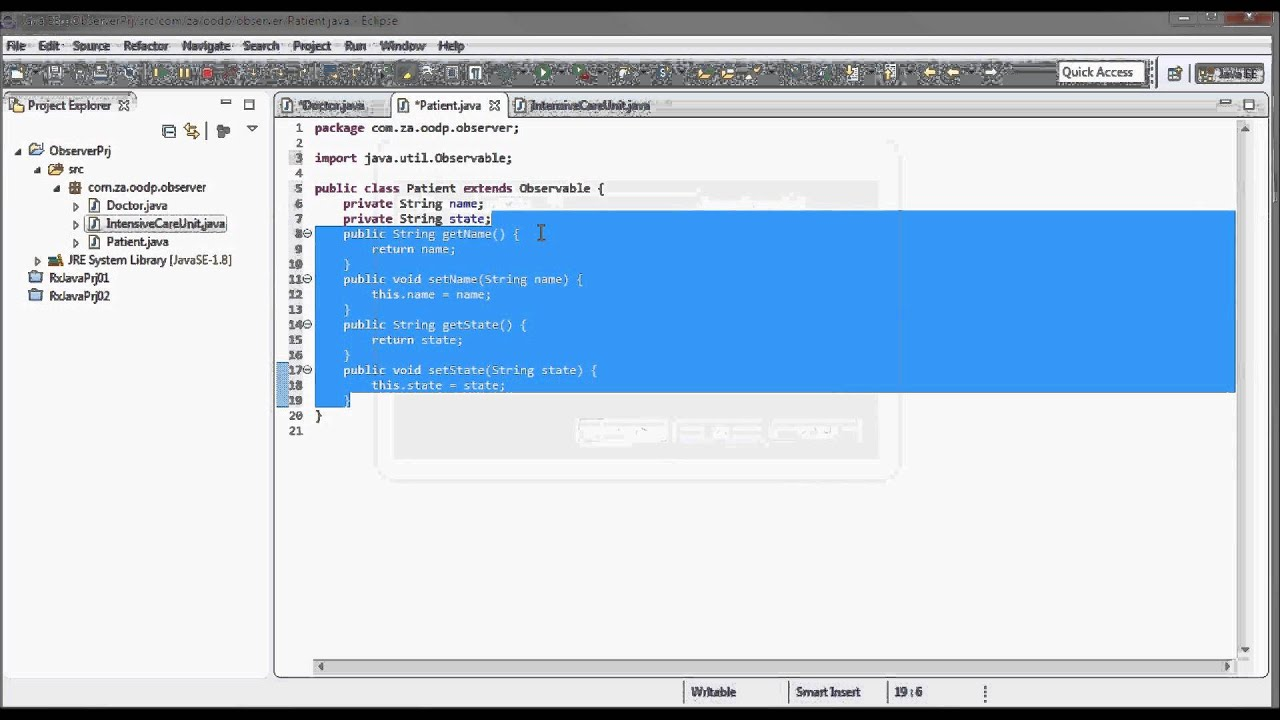 Observer pattern example w uml diagram java code youtube observer pattern example w uml diagram java code ccuart Gallery