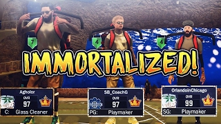 LEGEND WARS  EVERY PARK LEGEND IN ONE GAME W/ HANKDATANK25 AND ORLANDOINCHICAGO NBA 2K17