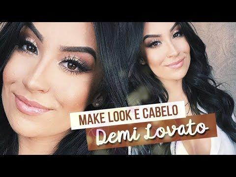 MAKE LOOK E CABELO | Inspirado na Demi Lovato