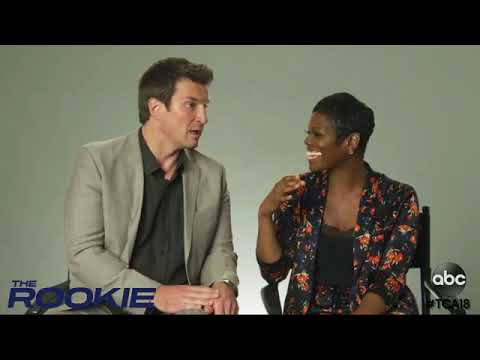 Nathan Fillion and Afton Williamson answering questions