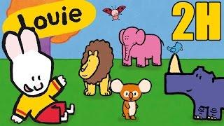 Dibujos animados para niños - 2 horas de Louie: La selva - Compilacion #5 HD