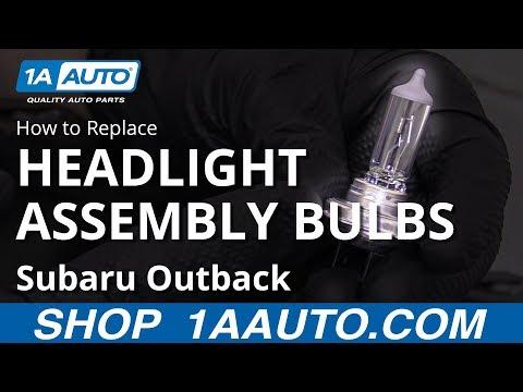 How to Replace Headlight Bulbs 10-14 Subaru Outback