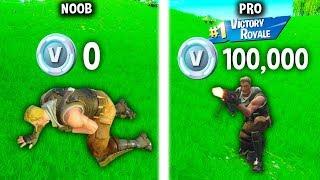 1000 V-BUCKS for EVERY KILL in Fortnite! (Noob vs. Pro)