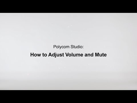 How To Adjust Volume And Mute - Poly Studio USB - Español