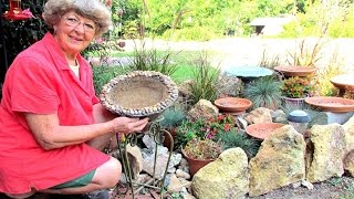 How To Make A Hypertufa Bird Bath From Very Old Bowl  In Ga.