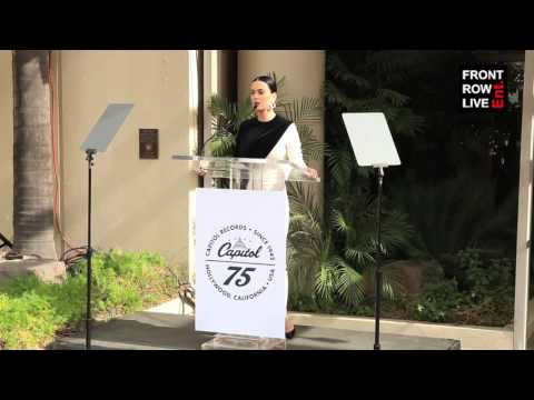 Katy Perry Presents Capitol Records with Star Of Recognition at 75th Anniversary Celebration