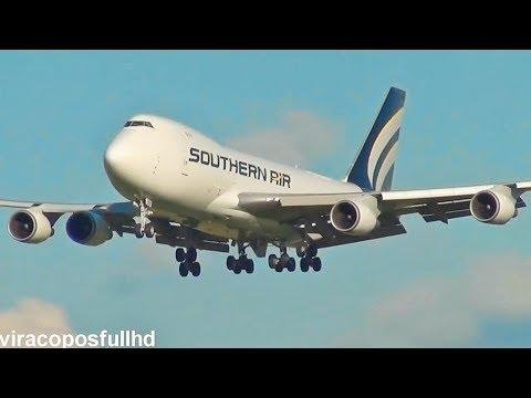 Pouso e Decolagem em Campinas Boeing 747-400F SOUTHERN AIR