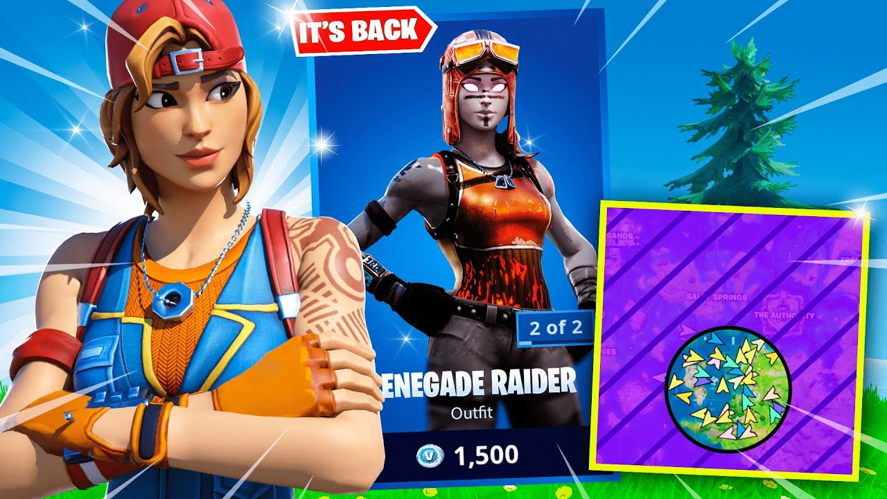 I got 100 FANS to scrim for the NEW RENEGADE RAIDER skin...