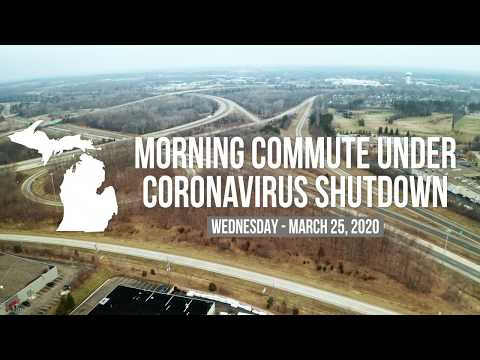 Empty metro Detroit freeways under coronavirus shutdown