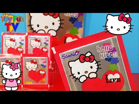 HELLO KITTY Panini Sticker Album Book Starter Pack & Stickers Opening Unboxing