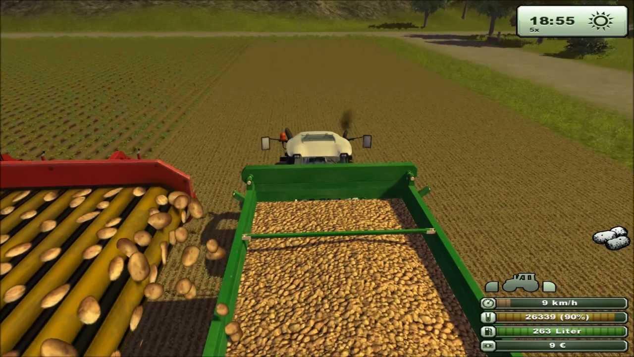 landwirtschaft simulator 2013 kartoffeln ernten in full hd. Black Bedroom Furniture Sets. Home Design Ideas