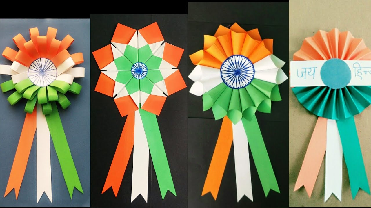 Indian Tricolor Badge Ideas Republic Day Crafts Indian Tricolor