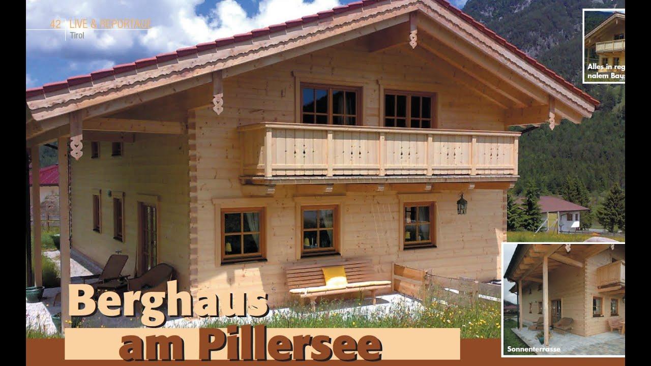 Chiemgauer Holzhaus blockhome tv wohnblockhaus pillersee a