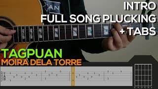 Moira Dela Torre - Tagpuan [INTRO & PLUCKING] Guitar Tutorial with (TABS on SCREEN)
