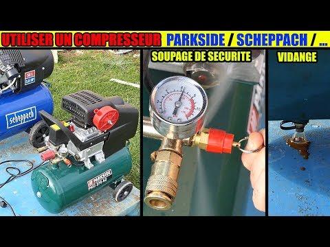 Utiliser Un Compresseur Parkside Pko 270 500 Scheppach Lidl How To Use An Air Compressor
