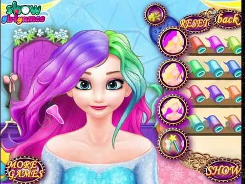 Мультик игра Холодное сердце: Красить волосы Эльзе (Elsa Dye Hair Design)