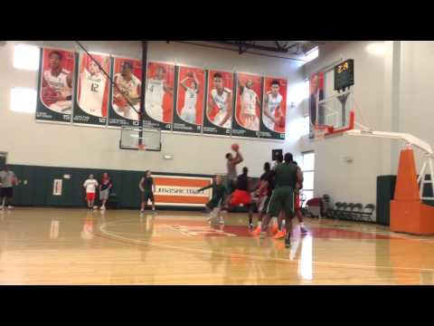 Miami Hurricanes summer basketball practice