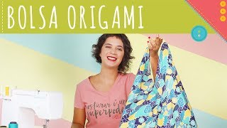 Como Fazer bolsa Origami de Tecido Passo a Passo