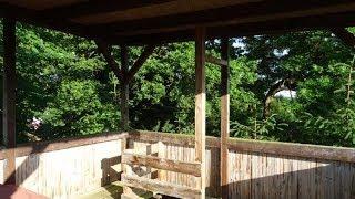 Baumhaus einmal anders! Hochturm, Spielhaus mit Rutsche und Schaukel