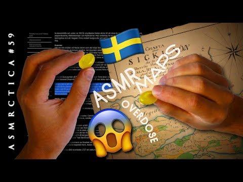 ASMR 1hr Swedish - Maps - Cough drops | Tingle Overdose Sleep Aid
