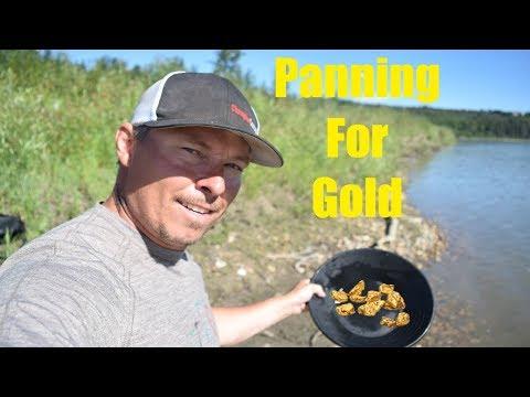 Panning For Gold On The North Saskatchewan River