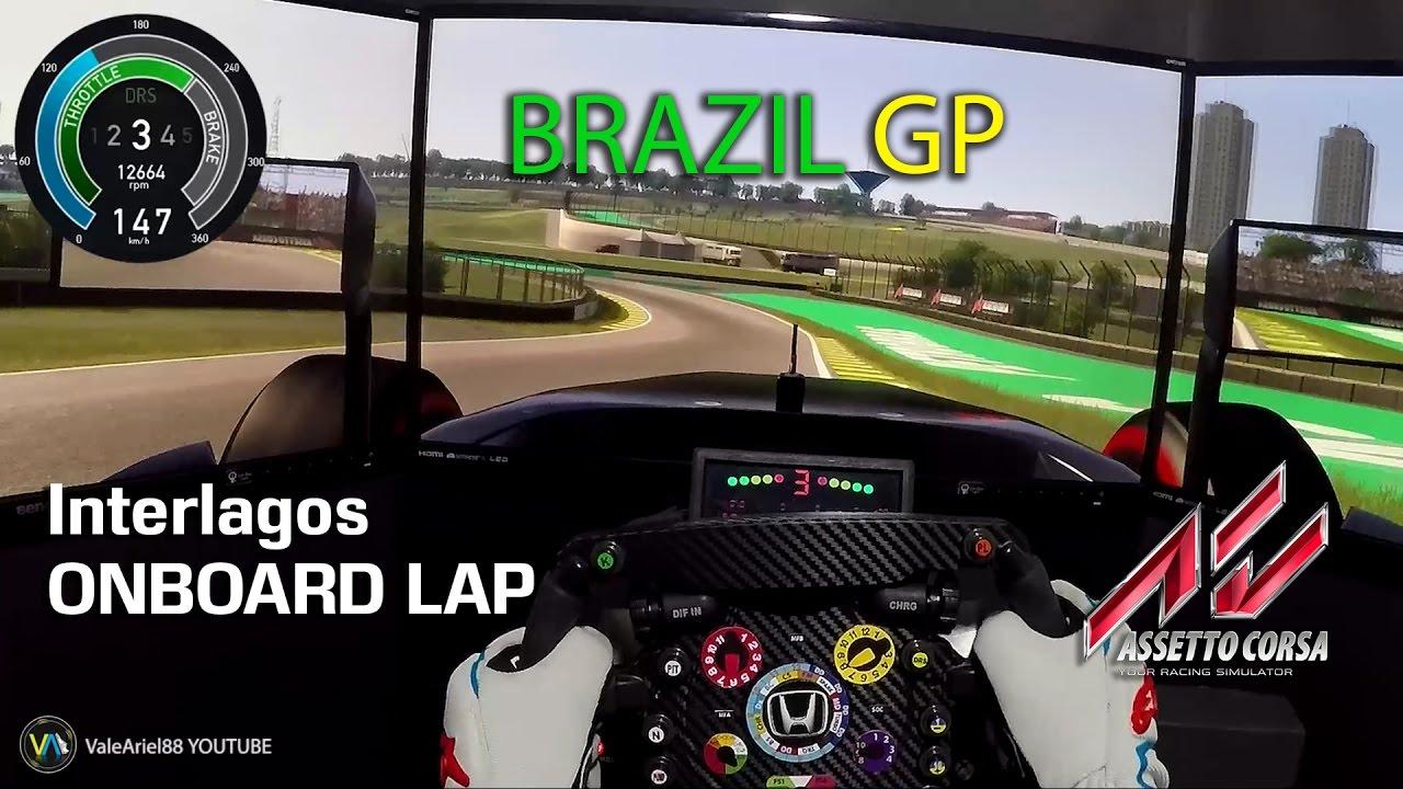 F1 2016 BRAZIL GP ASSETTO CORSA PC INTERLAGOS | McLaren F1 GOPRO HD 1080p