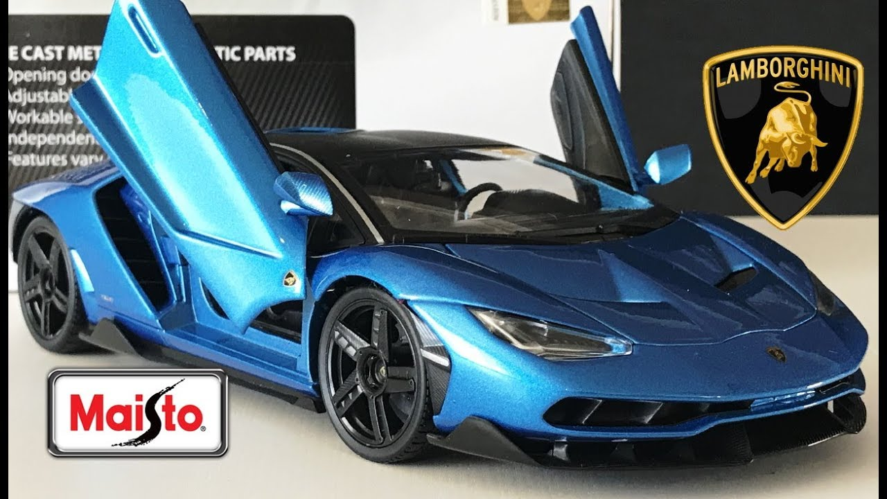 Lamborghini Blue Lp 770 Centenario Super Car Maisto 1 18 Die Cast