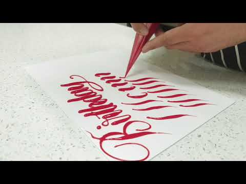 CAKE CALLIGRAPHY WRITING TUTORIAL for BEGINNERS