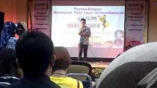 FeyAlfa - Singing Sayang-sayang (Malaysian song)