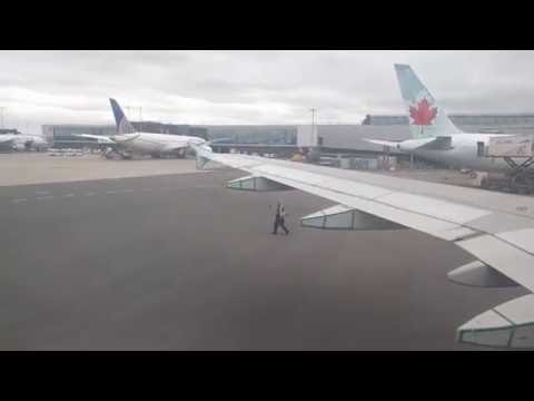 Air Canada AC 823 ETOPS Airbus A319 Push Back, Taxi and Takeoff at London Heathrow Airport