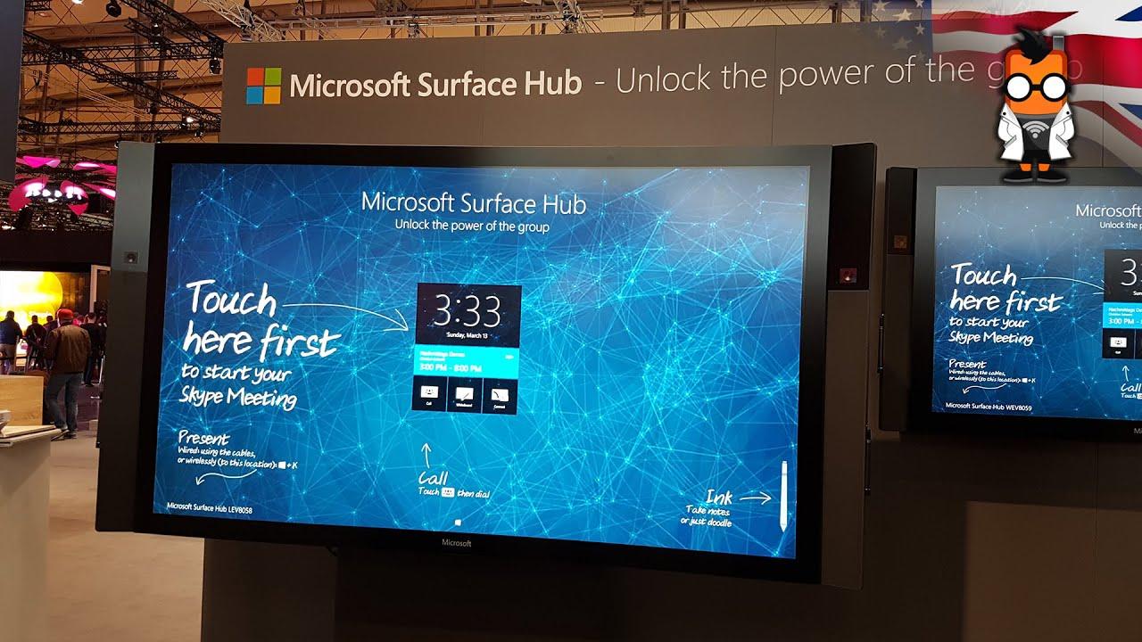 Microsoft Surface Hub Walk Through - YouTube