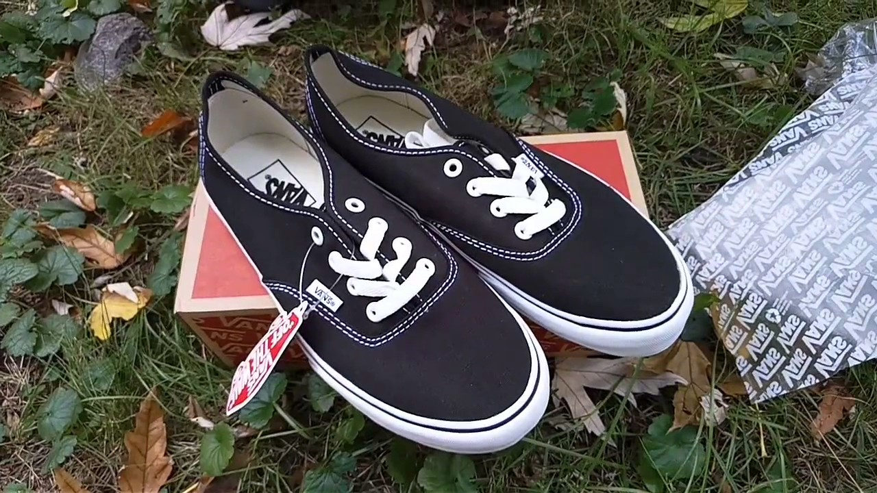 vans authentic VANS ERA BLACK - YouTube fe6d920303f1