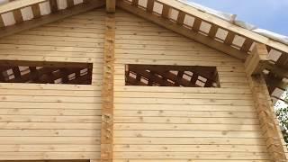 видео Дома из бруса камерной сушки