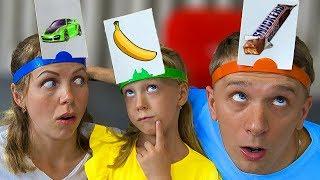 Мама Придумала НОВЫЙ ЧЕЛЛЕНДЖ КТО Я? Семейная Игра от Family Box для Детей  For kids