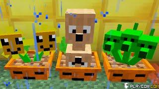 Plants vs. Zombies 2 Minecraft Mod Zombies Gargantuar In Crazy Dave's House!