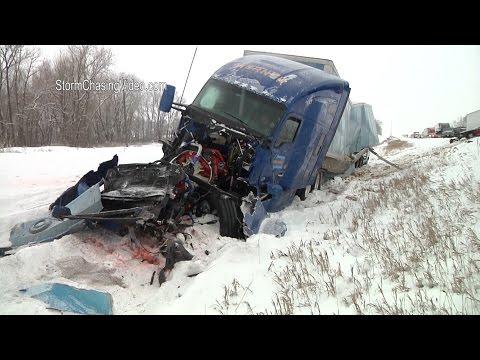 LIVE Minnesota Blizzard and Freezing Rain - 11/18/2016