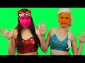 Frozen Elsa Rainbow Color Face Prank Maleficent | Spiderman Hulk Surprise Egg Fun In Real Life