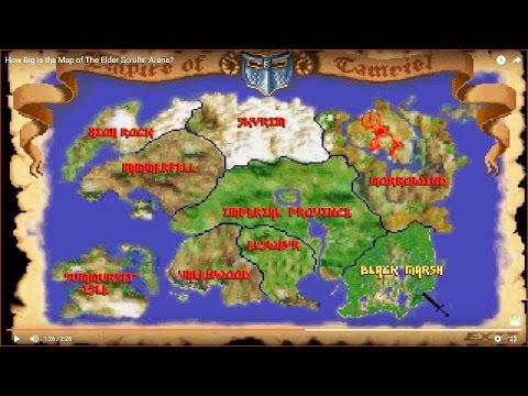 HOW BIG IS THE MAP in The Elder Scrolls: Arena?