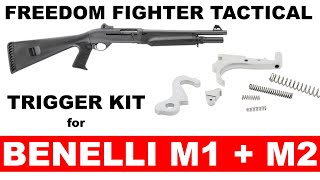freedom fighter tactical trigger kit for the benelli m1 m2 tactical shotguns
