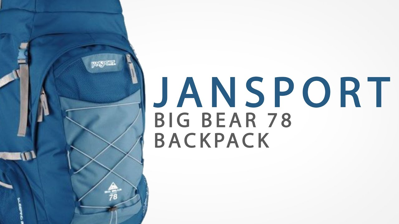 Jansport Big Bear 78 Backpack - Internal Frame - YouTube 73ce2c54d736e