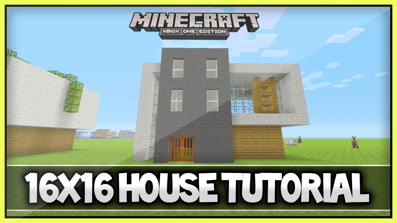 Minecraft 16x16 Easy Modern House Tutorial Xbox 360 Ps3Xbox one