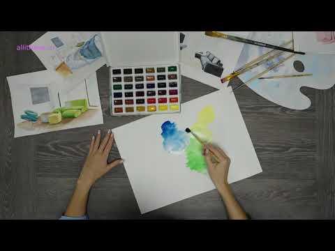 Акварель художественная набор в кюветах 36 цветов х 2 5 мл Петербургская классика - видеообзор
