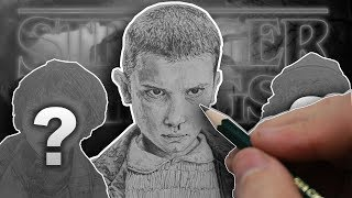 Stranger Things DRAWING CHALLENGE! - Freehand Character Drawing! thumbnail