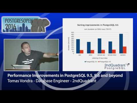 Performance Improvements in PostgreSQL 9.5, 9.6 and beyond