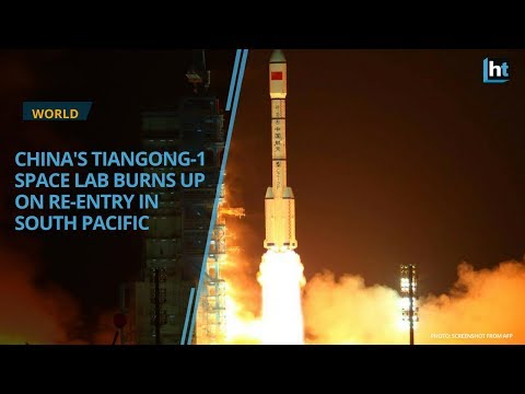 Chinese space lab burns up on earth re-entry