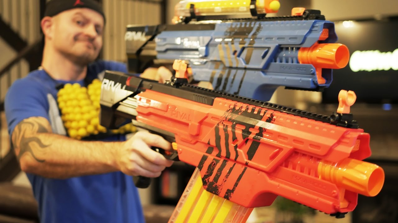 Nerf Rival Khaos Mxvi  Nerf Gun Review Unboxing Firing Youtube