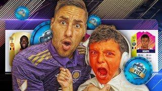 J'AI JAMAIS VU MON PETIT FRERE RAGER COMME CA ... FIFA 18 DRAFT