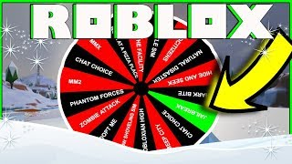 ROBLOX SPIN THE WHEEL | FANS CHOOSE THE GAME! | COME PLAY!