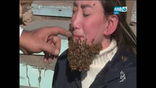 فيديو: النحل يهاجم ريهام سعيد التي خاضت أسوأ تجربة في حياتها!!