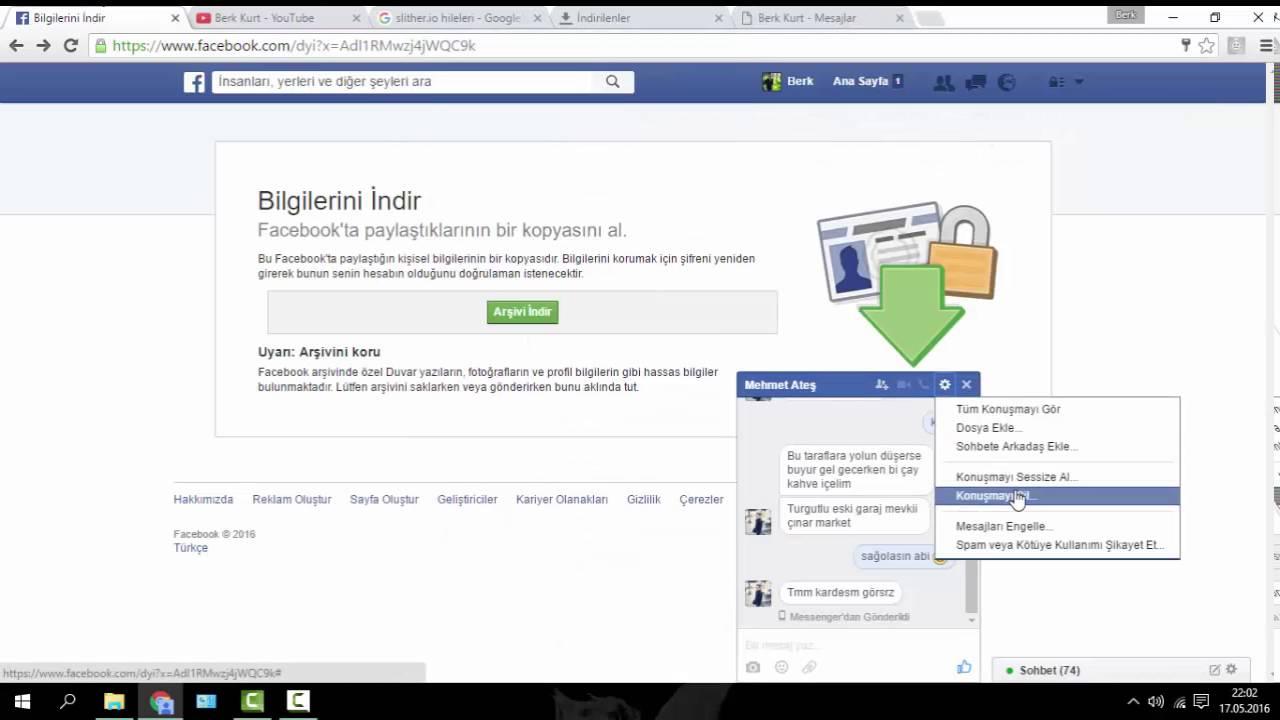 facebook başkasının mesajlarını görme programı